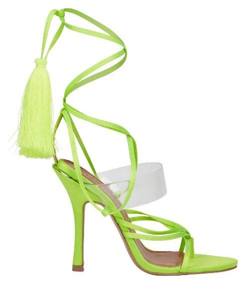 sandalo verde fluo alla schiava