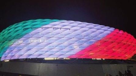 L'Allienz Arena si tinge col tricolore italiano dopo la vittoria dell'Italia