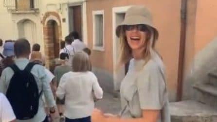 Le foto del ritorno a casa di Alessia Marcuzzi: è a Roseto Valfortore