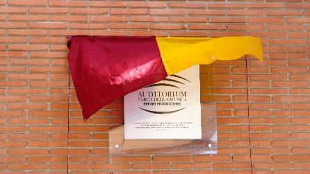 Roma, targa in onore di Ennio Morricone all'Auditorium della Musica