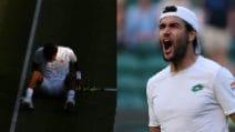 Wimbledon, l'urlo di Berrettini: manda al tappeto Auger Aliassime ed entra nella storia