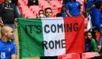"""Euro 2020, """"It's coming Roma"""", lo slogan comparso a Wembley prima della finale"""
