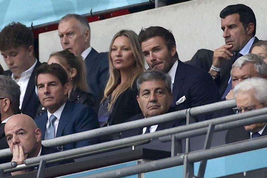 Anche David Beckham con accanto Kate Moss e poco distante Luis Figo