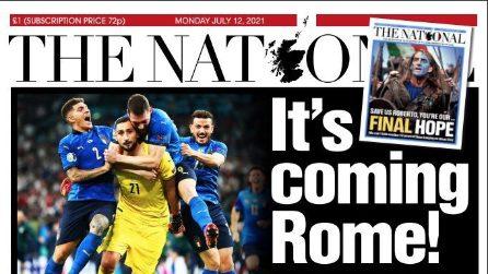 L'Italia Campione d'Europa celebrata dai giornali