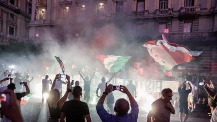 Festa a Napoli per la vittoria dell'Italia ad Euro 2020