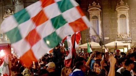 La vittoria dell'Italia agli Europei vista nelle strade di Napoli