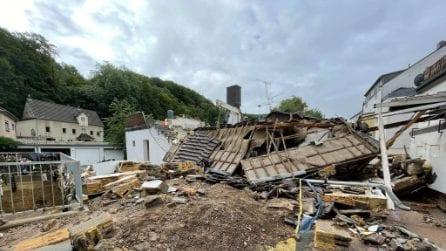 Germania, il maltempo causa morti e dispersi: le immagini di Bad Münstereifel distrutta