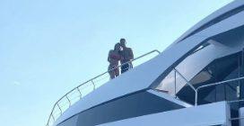 A bordo dello yacht di Cristiano Ronaldo in vacanza in Italia