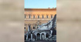"""Palazzo Farnese """"squarciato"""" dall'artista JR"""