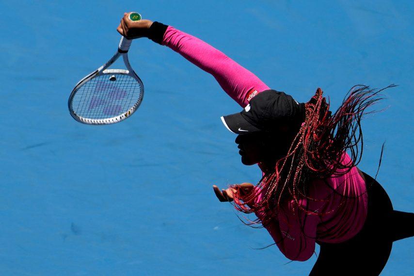 Naomi Osaka con le treccine