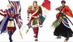 Olimpiadi di Tokyo, bandiere del Paesi partecipanti diventano samurai anime