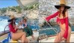 Emily Ratajkowski in vacanza in Costiera Amalfitana