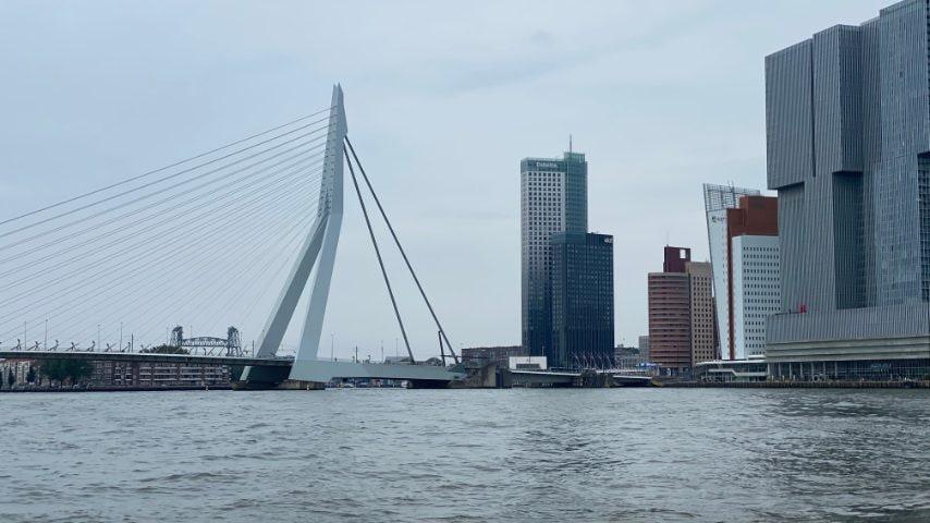 Vista di Erasmusbrug e Kop Van Zuid