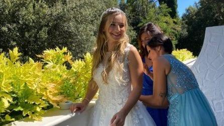 L'abito da sposa di Claudia Venturini di Temptation Island