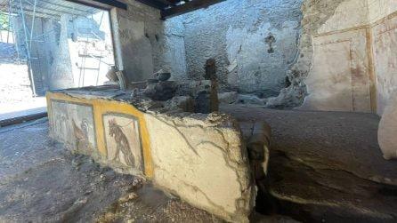 Le foto del termopolio della Regio V, l'antica tavola calda di Pompei