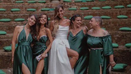 Le nozze di Veronica, la sorella di Giulia De Lellis: l'abito da sposa e i look delle damigelle