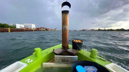 La Spa galleggiante che permette di navigare intorno al porto di Copenhagen