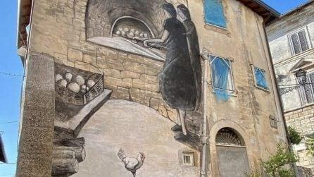 La ricca street art a Fiuggi: i bellissimi murales adornano la città