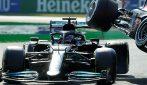 Gp Monza, le immagini dell'incidente tra Hamilton e Verstappen