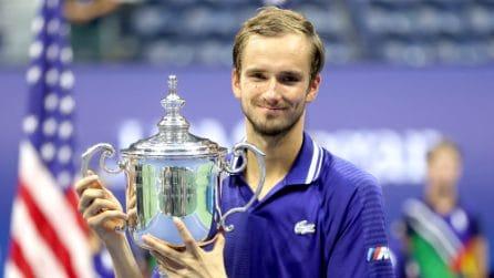 US Open, le immagini della finale Djokovic-Medvedev