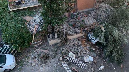 Esplosione in una palazzina a Torre Angela: le immagini del crollo