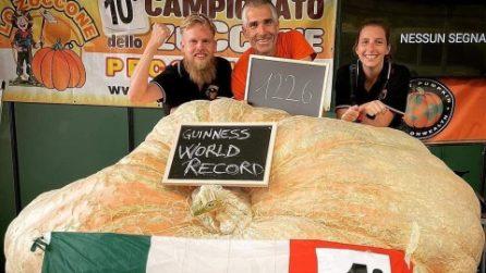 La zucca più grande del mondo è toscana ed entra nel Guinness dei primati