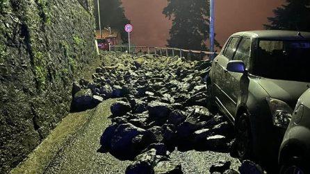 Maltempo a Como: frane e smottamenti a Blevio, chiusa strada provinciale Lariana
