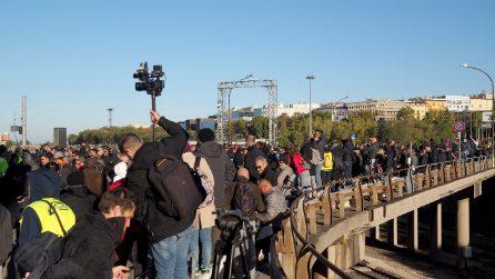 La protesta No Green Pass al porto di Trieste