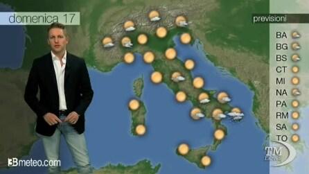 Le previsioni meteo di domenica 17 agosto