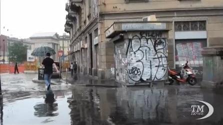 Atmosfera surreale a Milano, pioggia anche a ferragosto