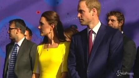 Kate e William sbarcano in Australia