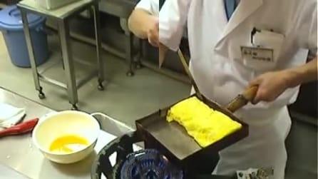 Ecco come i giapponesi preparano una omelette