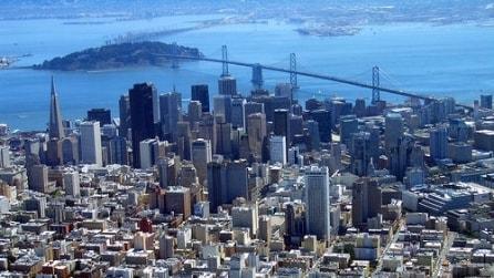 Spettacolare viaggio a San Francisco dall'alto
