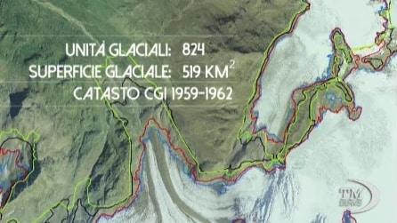 Ghiacciai italiani: in 30 anni superficie ridotta del 40%