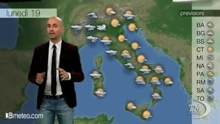 Previsioni meteo per lunedì, 19 maggio