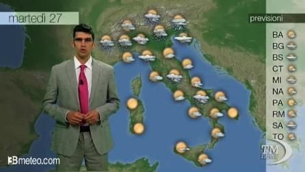 Previsioni meteo per martedì 27 Maggio