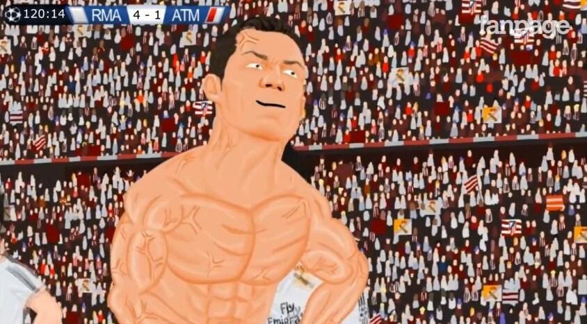 Real vs atletico cartone animato in stile south park racconta la