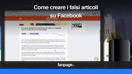 Bufale su Facebook e Twitter, come creare i falsi articoli con Pinibook