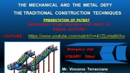 """Emergency staircase """"VINARY Steel"""" adaptable to different elevations"""
