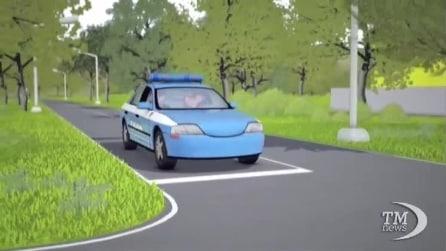 Guida sicura prima delle partenze, il web cartoon della Polizia