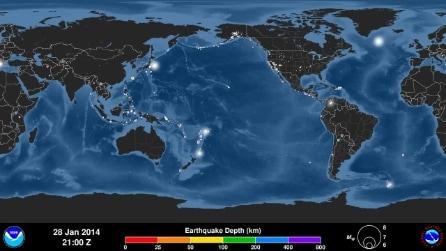 Ecco quanti terremoti ci sono stati nel mondo in 4 mesi