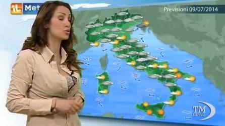 Previsioni meteo per mercoledì, 9 luglio
