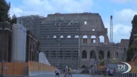 Il Colosseo torna al suo splendore originario, via i primi ponteggi