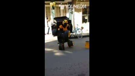 Uomo diventa una macchina, ecco Transformers nella realtà