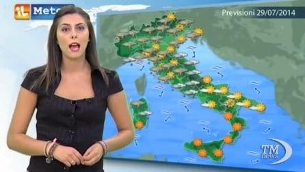 Le previsioni meteo per martedì 29 luglio