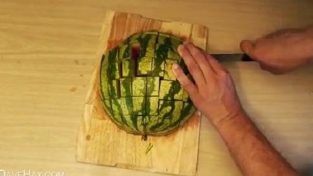 Ecco il modo migliore di tagliare un cocomero