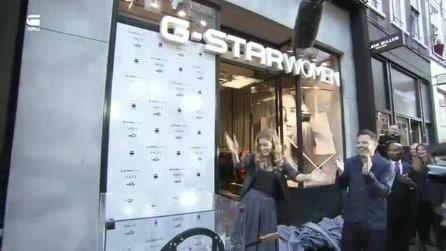 Doutzen Kroes inaugura il primo monomarca femminile di G Star