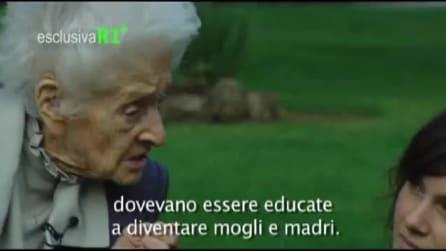 Rita Levi Montalcini a colloquio con otto ricercatrici
