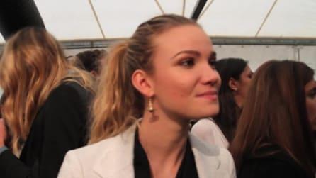 Fiammetta Cicogna parla del suo stile alla sfilata di Vivienne Westwood | Milano Moda Uomo ai 2013-14