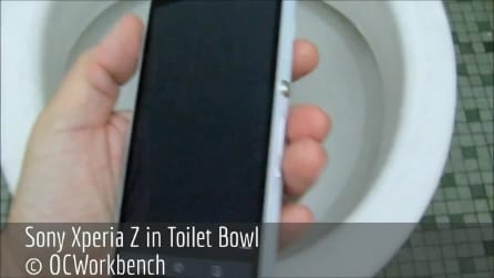 Sony Xperia Z: WC test